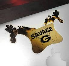 Uga Georgia Bulldogs Stickers Savage Pads 6 Die Cut Vinyl Photo D Wright Photo