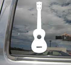 Ukulele String Instrument Hawaii Guitar Car Bumper Vinyl Decal Sticker 05036 Ebay