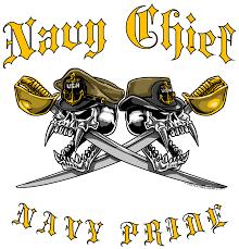 Navy Chief Navy Pride Dual Skull Cornhole Board Decal Sticker Cornhole Stop