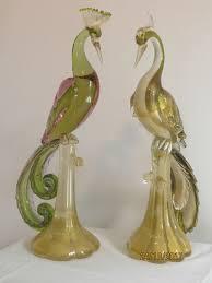 birds scultptures vintage murano 50