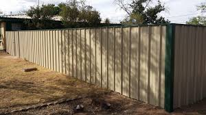 corrugated metal privacy fence all