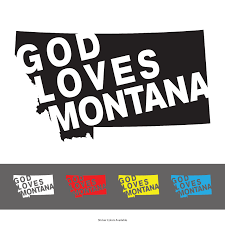 God Loves Montana Vinyl Window Decal 91 Clothing