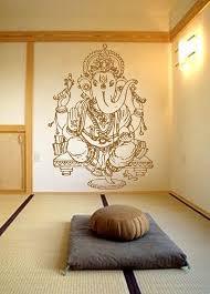 Kik483 Wall Decal Sticker Room Decor Wall Art Mural Indian God Ganesha Hinduism Welfare Bedroom Livi Meditation Room Meditation Room Decor Elephant Wall Decals