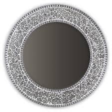 round framed wall mirror glass mosaic