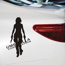 Car Decoration Car Stickers Reflective Car Stickers Cartoon Umbrella Alice Black Silver