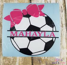 Soccer Decal Coach Gift Personalized Soccer Decal Soccer Sticker Soccer Mom Soccer Dad Water Bottle Decal Sports Decal Team Decal Monogram Decal Team Gifts
