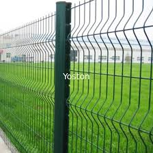 3d Curvy Pvc Coated Welded Wire Mesh Fencing Metal Security Fence Panels For Airport