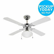 argos home ceiling fan white and