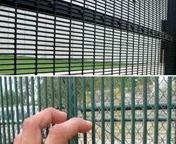 358 Welded Mesh Panels Black Powder Coated Galvanized Steel Fencing