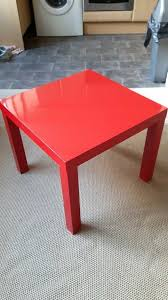 ikea lack side table high gloss red