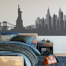 Black And White Cityscape Wall Decal Skyscraper Set Vinyl Art Buy Large Batman Vamosrayos