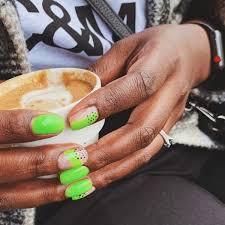 sns gel acrylic nails