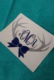 Deer Antler Bow Monogram Deer Monogram Southern Decal Car Decal Preppy Monogram Glitter Decal Southern Girl Glitter Decal Monogram Vinyl Monogram