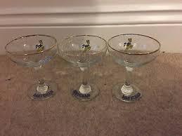 vintage babycham drinking glasses