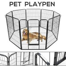 Fences Exercise Pens 31 Pet Fence Dog Playpen Exercise Cage Kennel W Door 8 Panel Outdoor Indoor Pet Supplies Vibranthns Lk