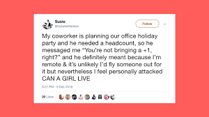 funny tweets about company holiday parties life