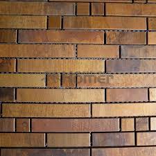 mosaic tiles wall covering metal mosaic
