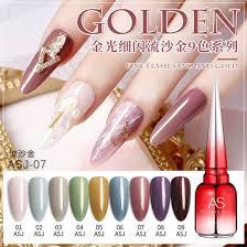 shiny glitter color nail gel uv led