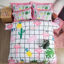 cartoon pink flamingo bedding sets 3