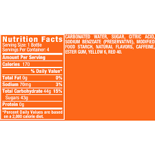 sunkist orange soda made with sugar 12