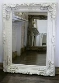 ornate rectangle antique wall mirror