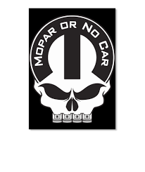 Mopar Or No Car Skull Portrait Sticker
