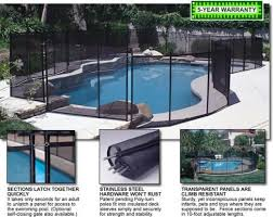 Gli Removable Mesh Safety Pool Fence Pool Landscaping Diy Pool Fence Backyard Pool