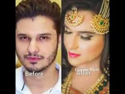 male to female makeup transformation in