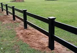 Black Vinyl Fence Los Angeles Ca Installation Privacy Ornamental Horse Fencing Ranch Railing