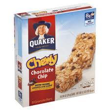 quaker granola bars chocolate chip 8