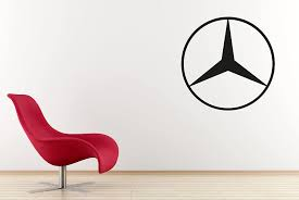 Amazon Com West Mountain Inc Mercedes Benz Car Logo Wall Decal Sticker Clothing