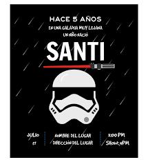 Invitacion Cumpleanos Stormtrooper Disenos Digitales