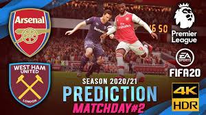 ARSENAL vs WEST HAM UTD | EPL 2020/2021 Prediction ○ Matchday 2 ○ FIFA 20