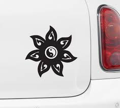 The Decal Store Com By Yadda Yadda Design Co Car Mandala Yin Yang Car Vinyl Decal Sticker C Yydc 5 W X 5 H