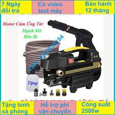 Máy xịt rửa mini - máy rửa xe sakura - 1800W - motor từ- tự hút nước