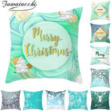 blue deer pillow covers