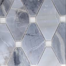 Abigail Stone & Glass Ling Blue White Glass – Bella Casa Tile Collection