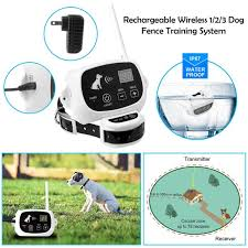 Wireless Electric Dog Pet Fence Containment System Shock Transmitter Collar Rechargeable Waterproof 1 Receiver Walmart Com Walmart Com