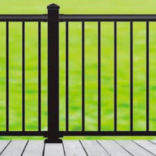 Nuvo Iron Blsark642d 6 Ft X 42 In Black Aluminum Deck Railing Kit Investments Hardware Limited