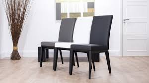 real leather dining chair with black