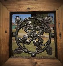Wrought Iron Round Rose Pattern Window Insert For Wood Gates Madison Iron And Wood