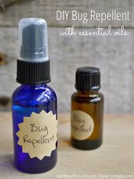 homemade bug repellent with essential oils