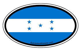 Honduras Vinyl Sticker Oval For Cars Any Surface Lands People
