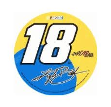 Kyle Busch 18 M M Racing 3 X 3 Round Decal Sticker Made In Usa