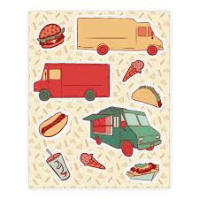 Food Truck Festival Sticker And Decal Sheets Lookhuman