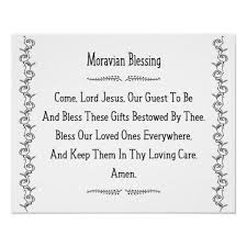 moravian blessing old m prayer
