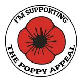 Poppy Appeal Remembrance Day Sticker Poppy Flower Decal Car Window Fridge Influent Uk