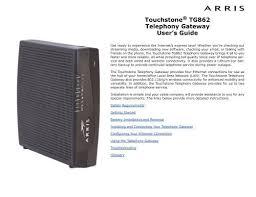 wireless modem arris touchstone tg862