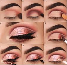 easy steps pink eye makeup tutorial
