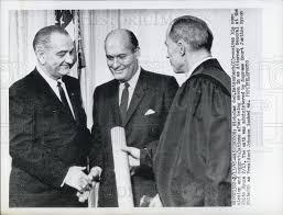 President Johnson, Nicholad D. Katzenbach and Judge Byron White ...